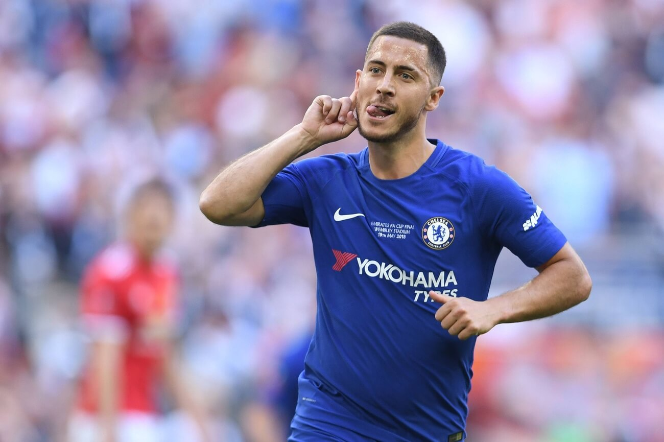475742f94 Bilder des Tages - SPORT Chelsea v Manchester United ManU FA Cup Final Eden  Hazard of Chelsea celebrates scoring their first goal from the penalty spot  ...